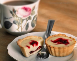 Raspberry & White Chocolate Tarts