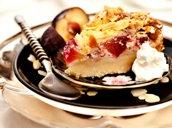 Plum & Almond Crumble Cake