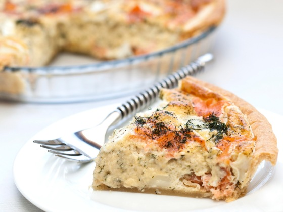 Smoked Salmon & Goat's Cheese Souffle Tart