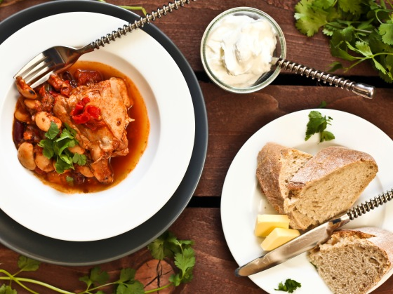 Spicy Chicken & Bean Stew