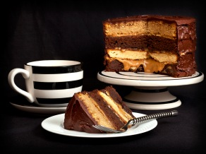 Chocolate Caramel Layer Cake 1