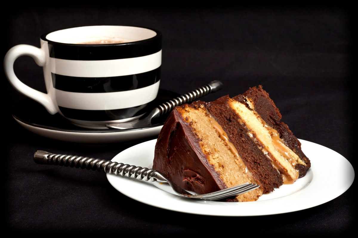Chocolate Caramel Layer Cake