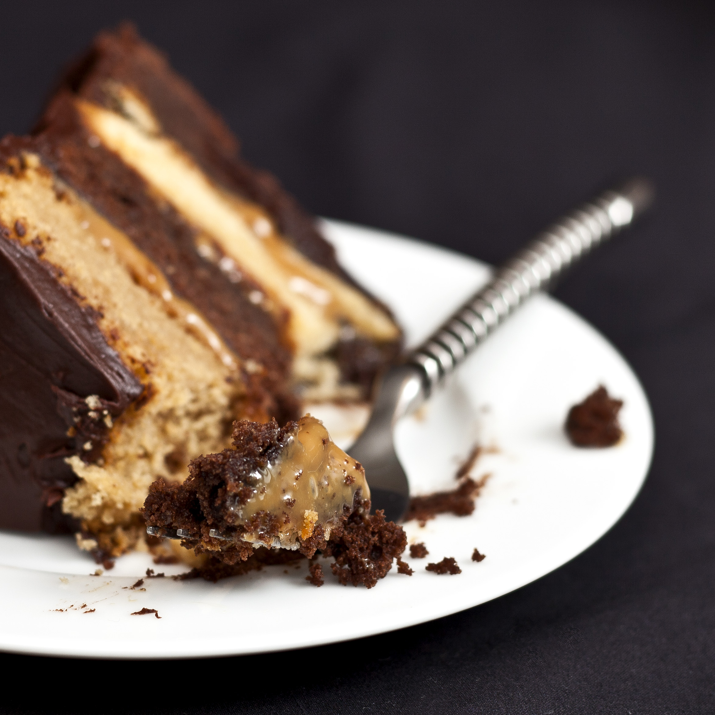 Chocolate Caramel Layer Cake | Susan Orr Photography