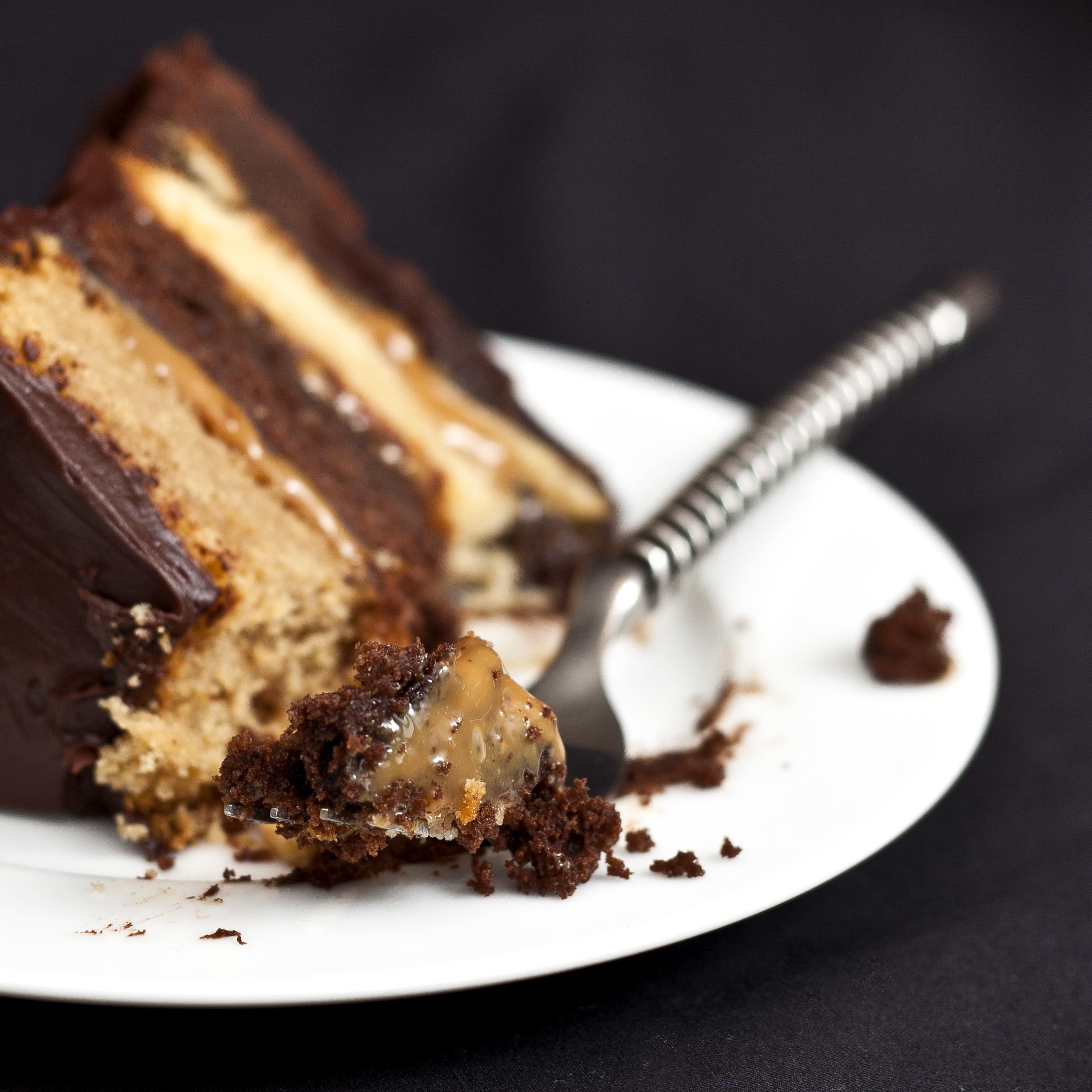 Chocolate Caramel Layer Cake Susan Orr Photography