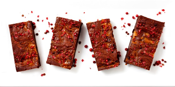 Pink Peppercorn Candy Milk Brownies 2b
