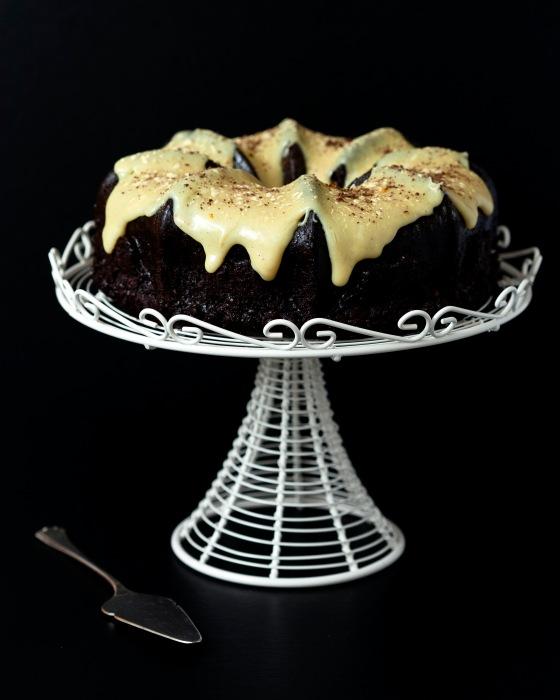 Dark Chocolate Gingerbread with White Chocolate Orange & Cardamom Ganache (1)