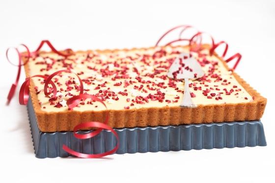 White Chocolate, Raspberry & Chilli Tart 2