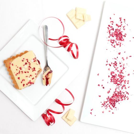 White Chocolate, Raspberry & Chilli Tart 6